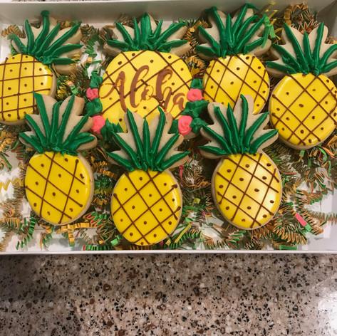Hawaii Themed Cookies