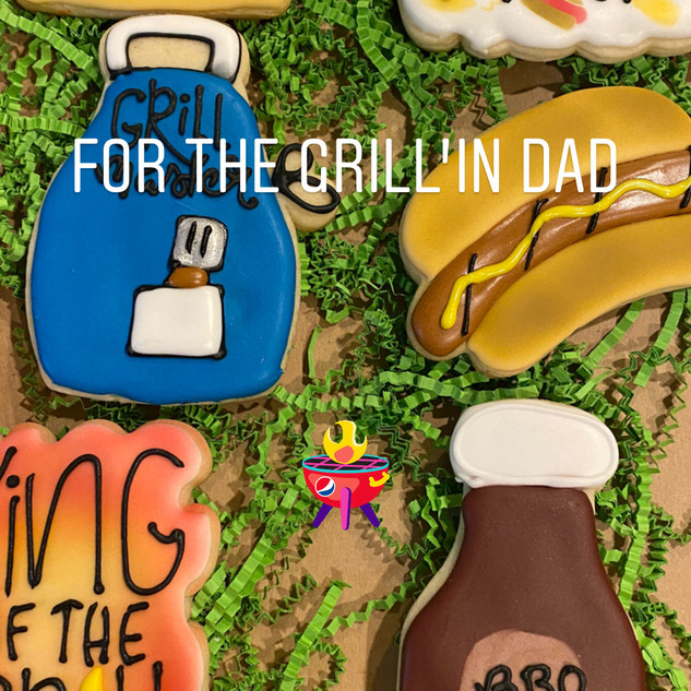 Father's Day BBQ Cookies