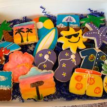Hawaiian Themed Cookies