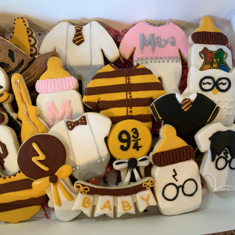 Harry Potter Baby Shower Cookies