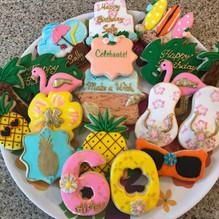 Hawaiian Birthday Cookies