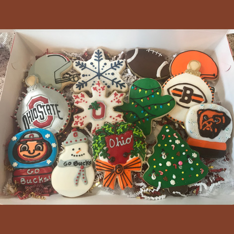Ohio State Christmas Cookies