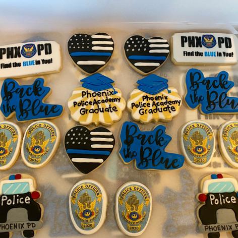 Phoenix Police Academy Graduation Cookies