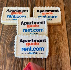 Apartment Rent.com Logo cookies