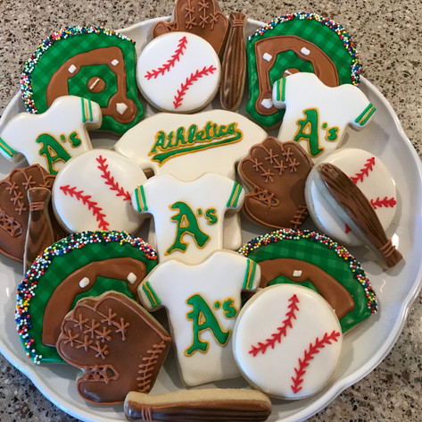Oakland A's Cookies
