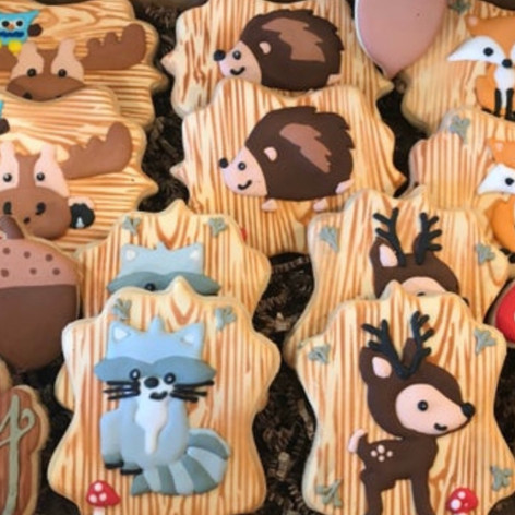 Woodland Themed Baby Shower Cookies