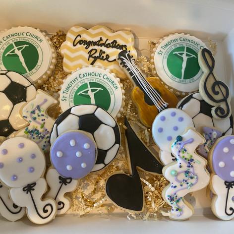 St Timothy Graduation Cookies