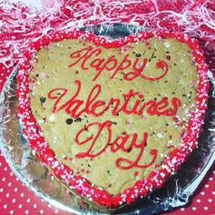 Chocolate Chip Valentine Cookie