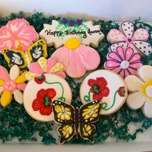 Flower Birthday Cookies