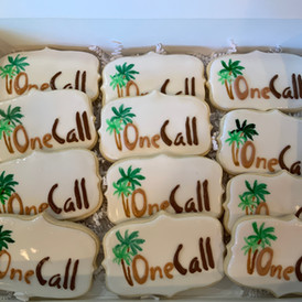 One Call Landscaping Logo Cookies
