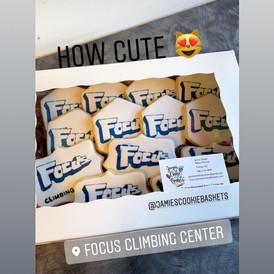 Focus Climbing Gym Logo Cookies