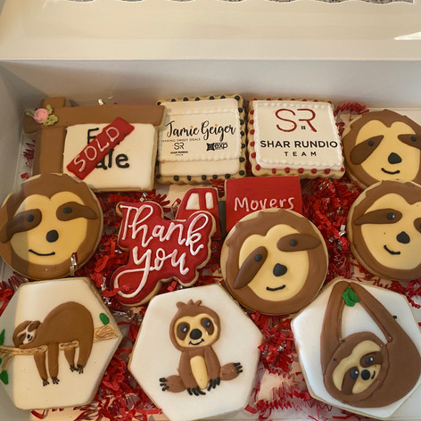 Sloth Themed Closing Cookies