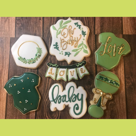 Oh Baby Shower Cookies