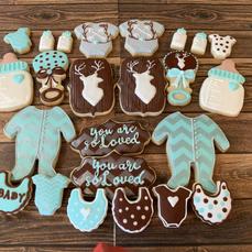 Little Boy Baby Shower Cookies
