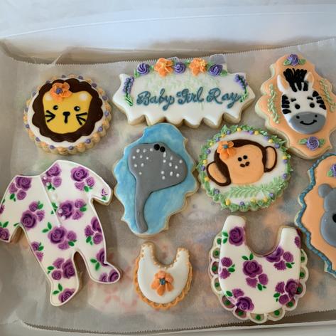 Zoo Keeper Baby Shower Cookies