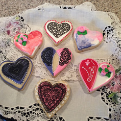 Custom Valentines Cookies