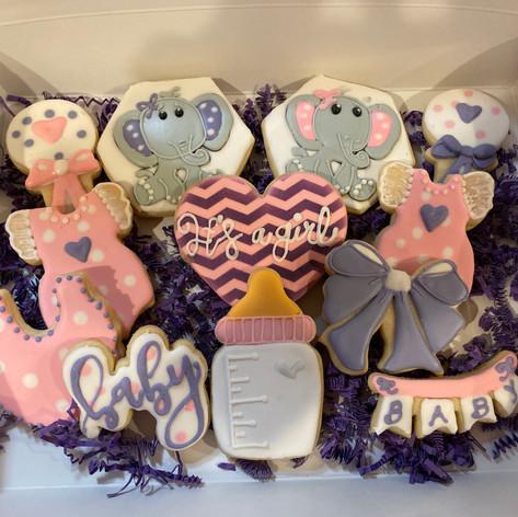 Cute Elephant Baby Shower Cookies