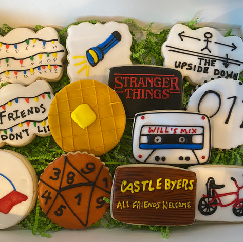 Stranger Things Themed Cookies