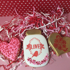 Decorated Valentines Day Cookies
