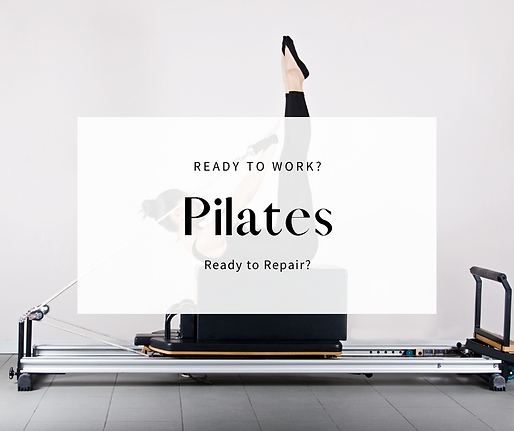 woman on a reformer for Stott Pilates