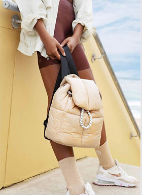 First Base X Urban Status Fashionably Sporty Puff Backpack | Dune