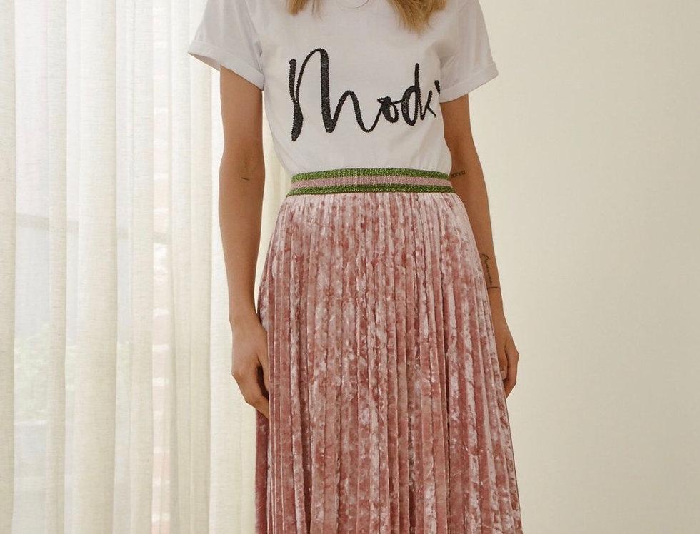 Mackenzie Mode, Motif T.Shirt | White