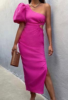 Marloe Midi Dress   Fushia