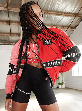 ETL.Active, Reversible Bomber Jacket | Pink, Red and Black
