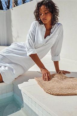 Sndys the Label, Bella Linen Long Sleeved Shirt Dress | White