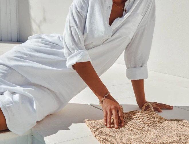 Sndys the Label, Bella Linen Long Sleeved Shirt Dress   White