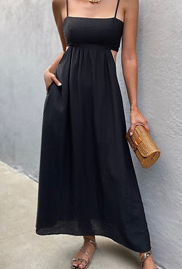 Jolie Midi Dress | Black
