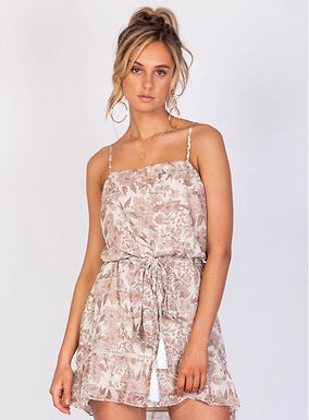 Three of Something, Newport Floral Dress with Frill Skirt | California Floral