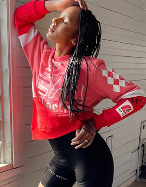 ETL.Active Oversized Sweater | Red and Pink