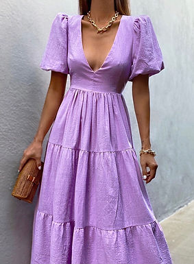 Asha Midi Dress   Lavender