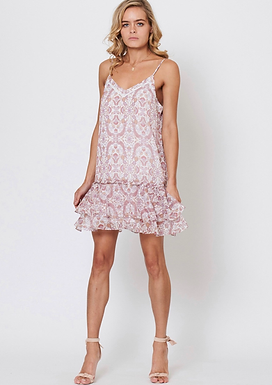 Three of Something, Enchanted Floral Pride Detailed Mini Dress   Floral Print