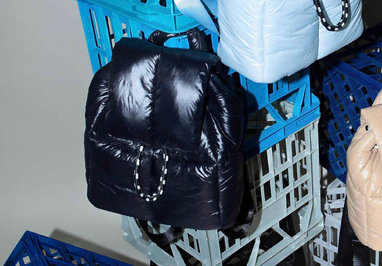 First Base X Urban Status Fashionably Sporty Puff Backpack | Neo