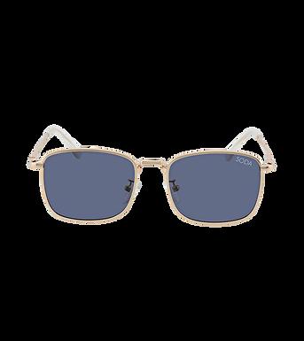 Soda Shades, Harper Premium Polarised On Trend Sunglasses | Gold/Blue