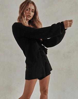 Sndys the Label, Celeste Knit Shorts Set | Black