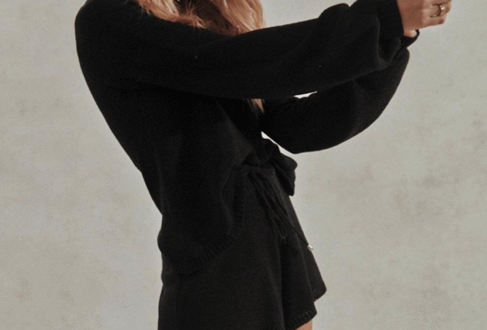 Sndys the Label, Celeste Knit Shorts Set   Black