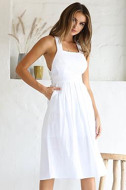 Seven Wonders the Label, Crisscross Back Detail Dress | White
