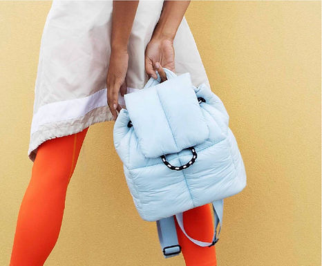 First Base X Urban Fashionably Sporty Puff Backpack | Ice