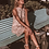 Thumbnail: Three of Something, Sleeveless Floral Shadow Mini Dress with Frill Detail | Pink