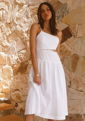 Casablanca Midi Dress   White