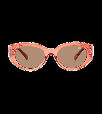 Soda Shades, Paris Premium Polarised Shades On Trend Sunglasses   Peach