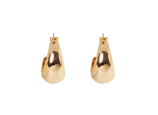 Portofino Hoops | Polished Gold