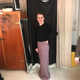 Skirt before hemming