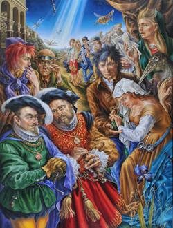 The artist and merchants