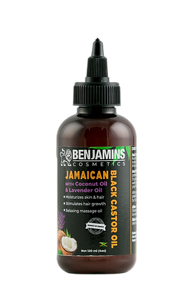 Benjamins Cosmetics Jamaican Black Castor Oil with Coconut Oil & Lavender Oil