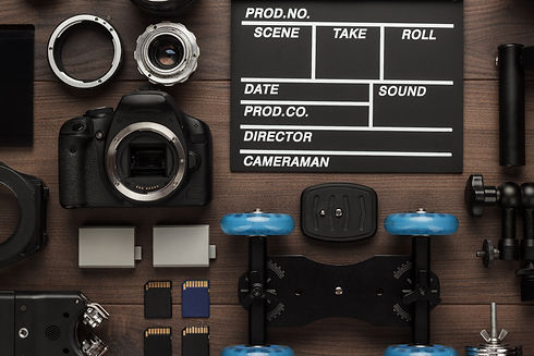 different-video-equipment-view-from-abov