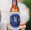 custom wedding bottles and koozies wedding design planning - austin tx